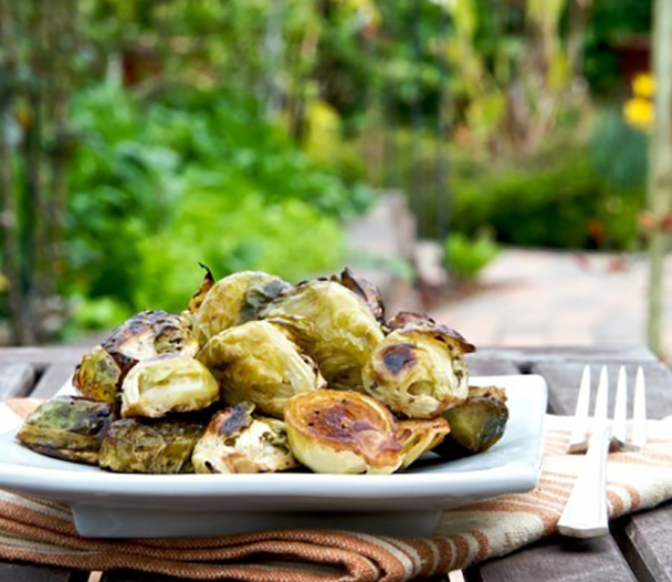 Quinoa Recipe With Roasted Brussels Sprouts, Leeks And Slivered ...